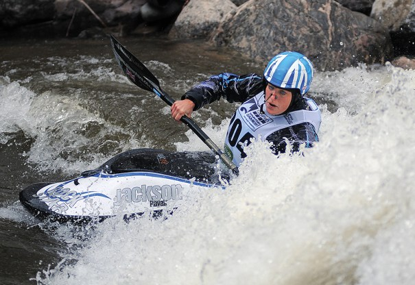 The GoPro Mountain Games, held in June in Vail, Colorado, included whitewater events as part of its mix of sports. Paddle sports are seeing a growth of interest thanks to new venues available for events. Photo courtesy of Cal Sport Media via AP Images