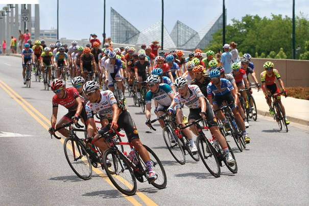The 2014 Volkswagen USA Cycling Professional Road & Time Trial National Championships were held on the streets of Chattanooga, Tennessee, in May.  Photo courtesy of an Henry/Chattanooga Times Free Press/AP Images