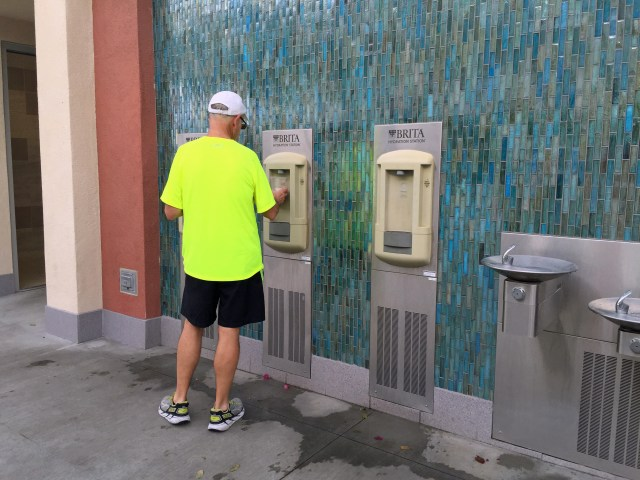 Among the enhancements for fans was a series of new hydration stations outside Stadium 2.