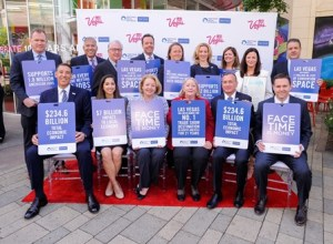 Las Vegas rallies in support of North America Meetings Industry Day.