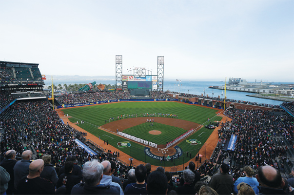 AT&T Park in San Francisco, home to the Giants, hosted the finals for the 2013 World Baseball Classic, the last time the international competition was staged. Photo by Jeff Chiu/AP Images