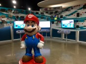 More than 50 past and present videogame consoles are displayed on a timeline at the National Videogame Museum.