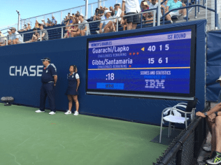 Among the new additions at this year's tournament was a 25-second countdown clock for serves.
