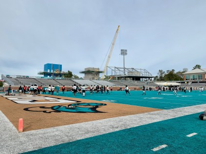 Following a renovation and expansion project that is expected to be complete in 2019, Brooks Stadium at Coastal Carolina University will have a seating capacity of 21,000 as well as new hospitality areas.