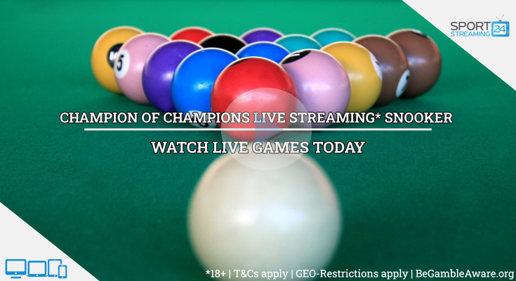 Champion of Champions live snooker stream online video online