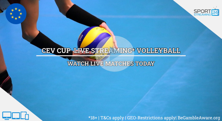 CEV Cup live streaming volleyball video online free now