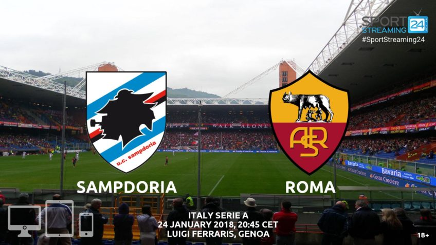 watch sampdoria roma live stream video bet365