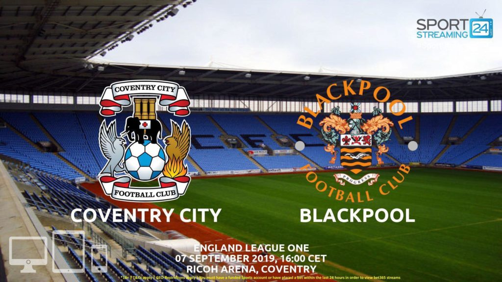 Thumbnail image for Coventry v Blackpool Live Streaming | England Ligue 1