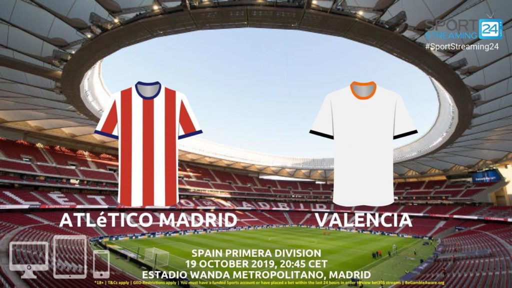Thumbnail image for Atletico Madrid v Valencia Live Streaming | Primera Division