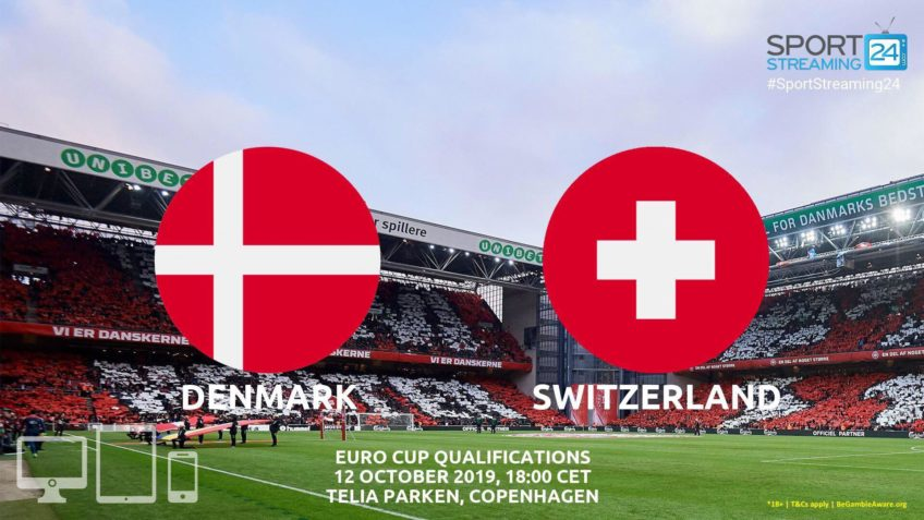 denmark switzerland live stream betting odds