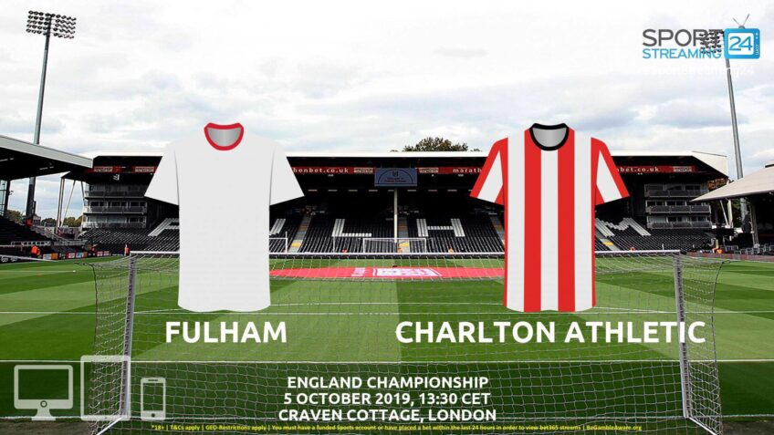 fulham charlton live stream betting odds