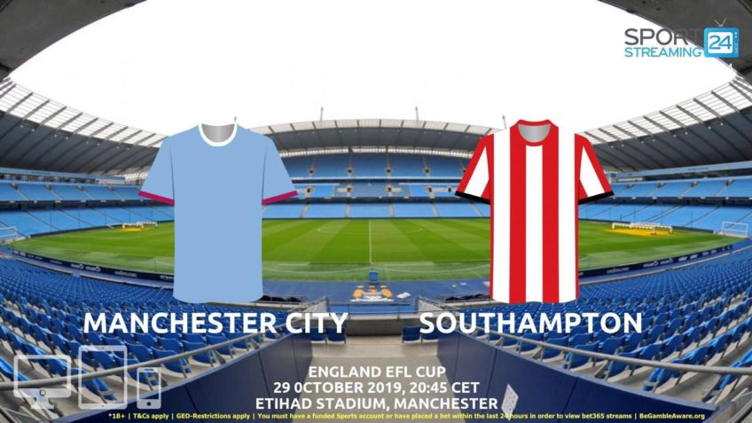 manchester city southampton live stream betting odds