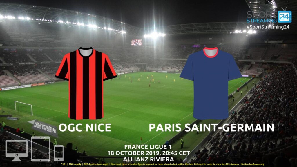 Thumbnail image for Nice v Paris Saint Germain Live Streaming | Ligue 1