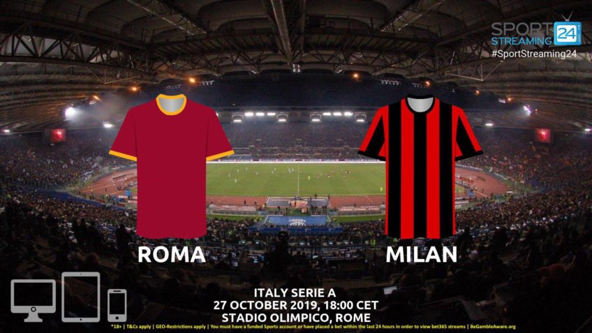 roma milan stream betting odds