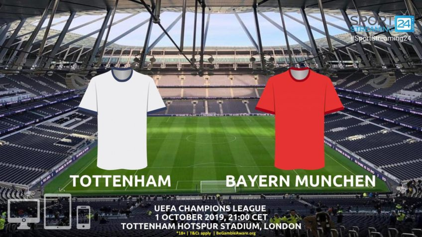 tottenham bayern munich live stream betting odds