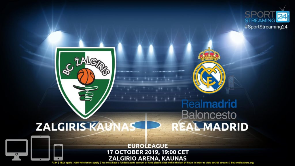 Thumbnail image for Zalgiris Kaunas Real Madrid Live Stream | Eurocup