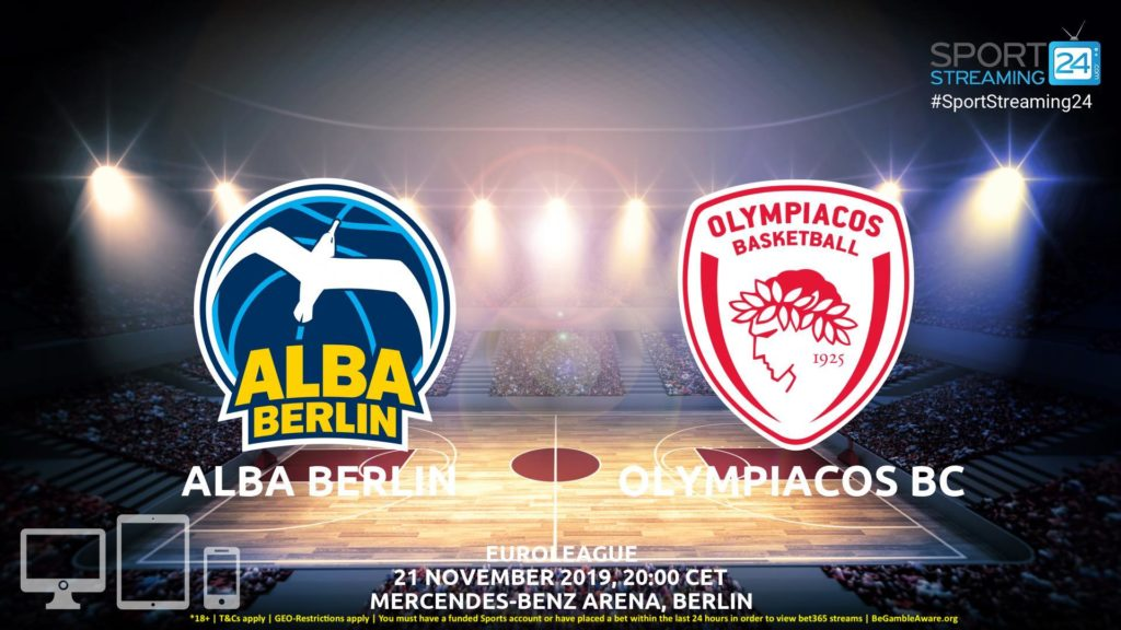 Thumbnail image for Alba Berlin v Olympiacos Live Stream | Euroleague