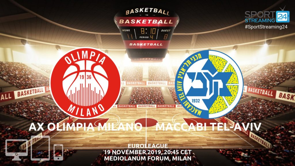 Thumbnail image for Olimpia Milano v Maccabi Tel Aviv Live Stream | Euroleague