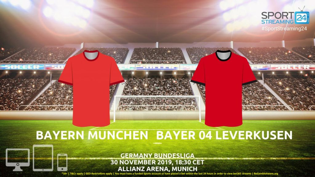 Thumbnail image for Bayern Munich v Bayer Leverkusen Streaming | Bundesliga