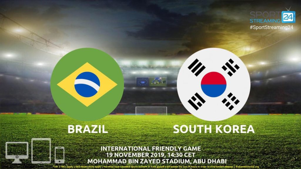 Thumbnail image for Brazil v Korea Republic Live Streaming | International friendly