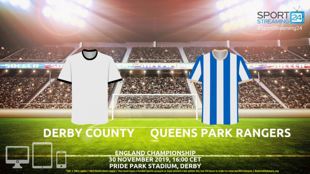 Thumbnail image for Derby v QPR Live Streaming | Championship