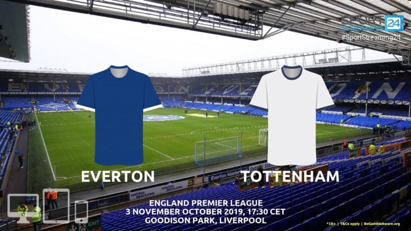 everton tottenham live stream betting odds
