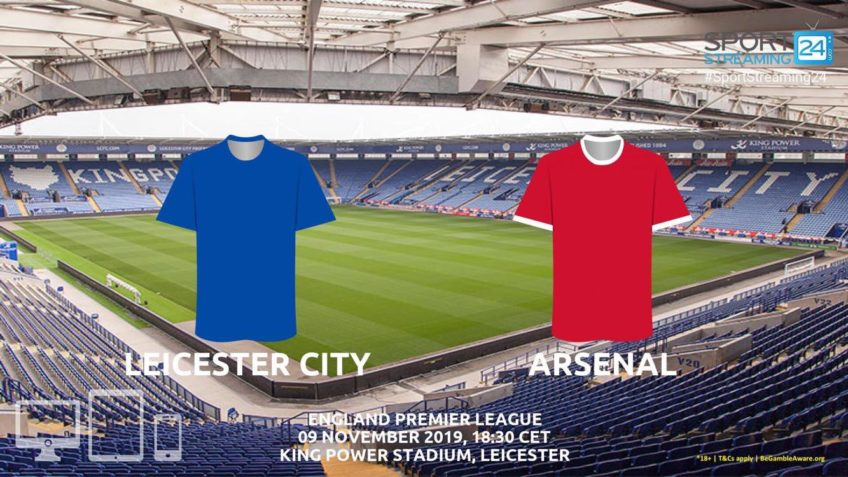 leicester arsenal live stream betting odds