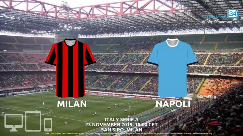 Thumbnail image for Milan v Napoli Live Streaming | Serie A