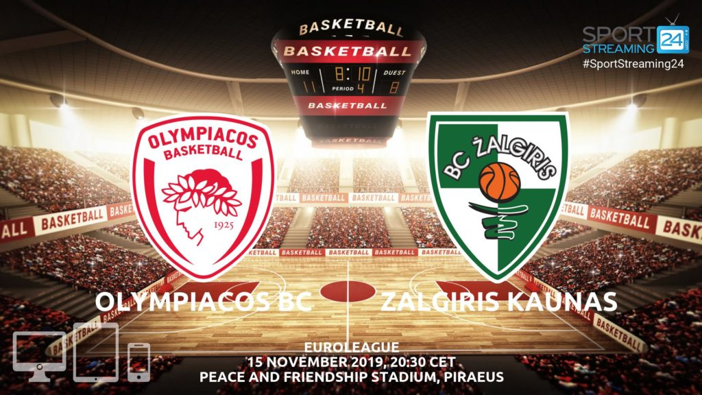 Thumbnail image for Olympiacos v Zalgiris Kaunas Live Stream | Euroleague