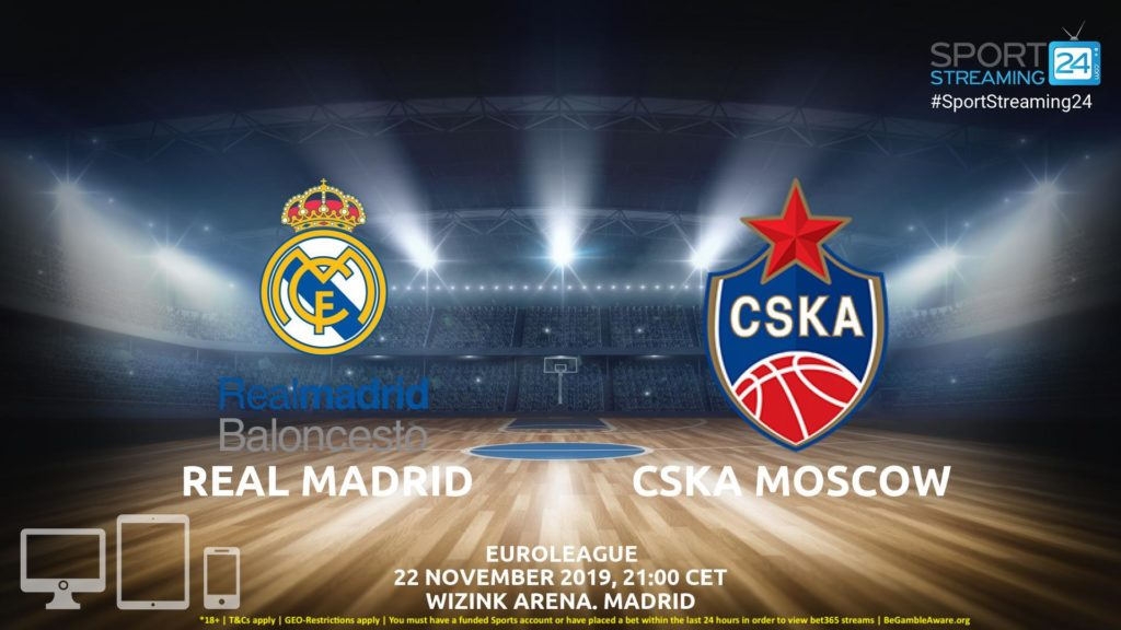 Thumbnail image for Real Madrid v CSKA Moscow Live Stream | Euroleague