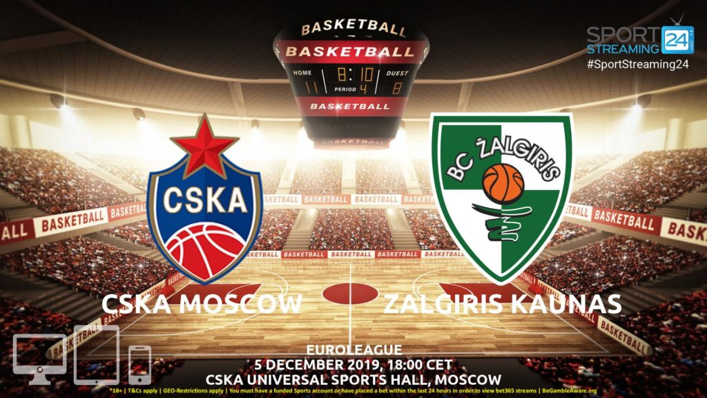 Thumbnail image for CSKA Moscow  v Zalgiris Kaunas Live Stream | Euroleague