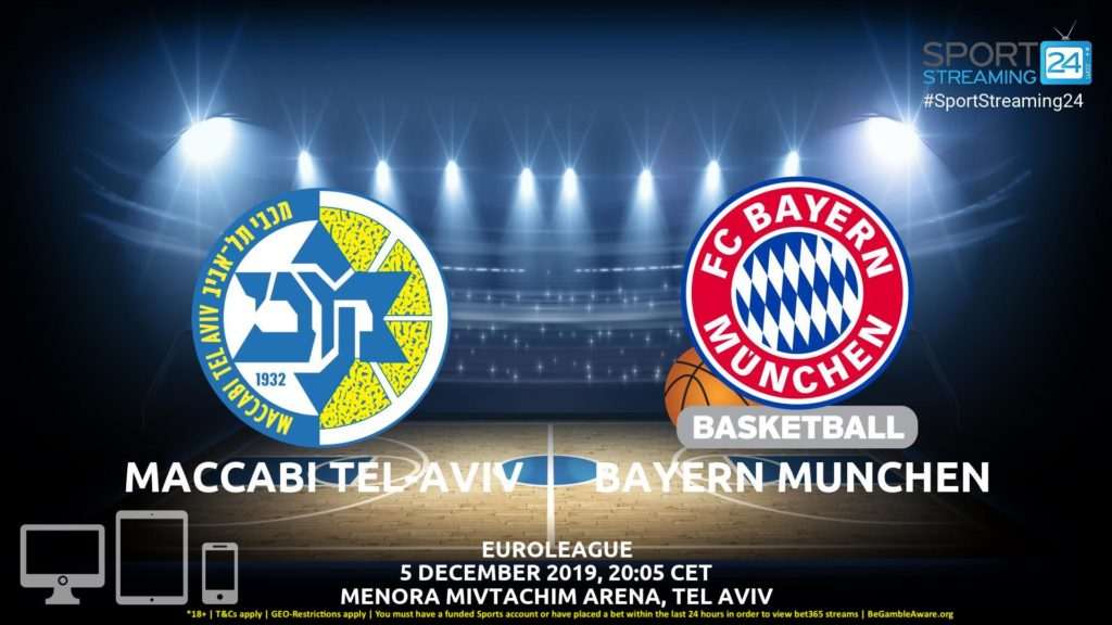 Thumbnail image for Maccabi Tel-Aviv v Bayern Munich Live Stream | Euroleague