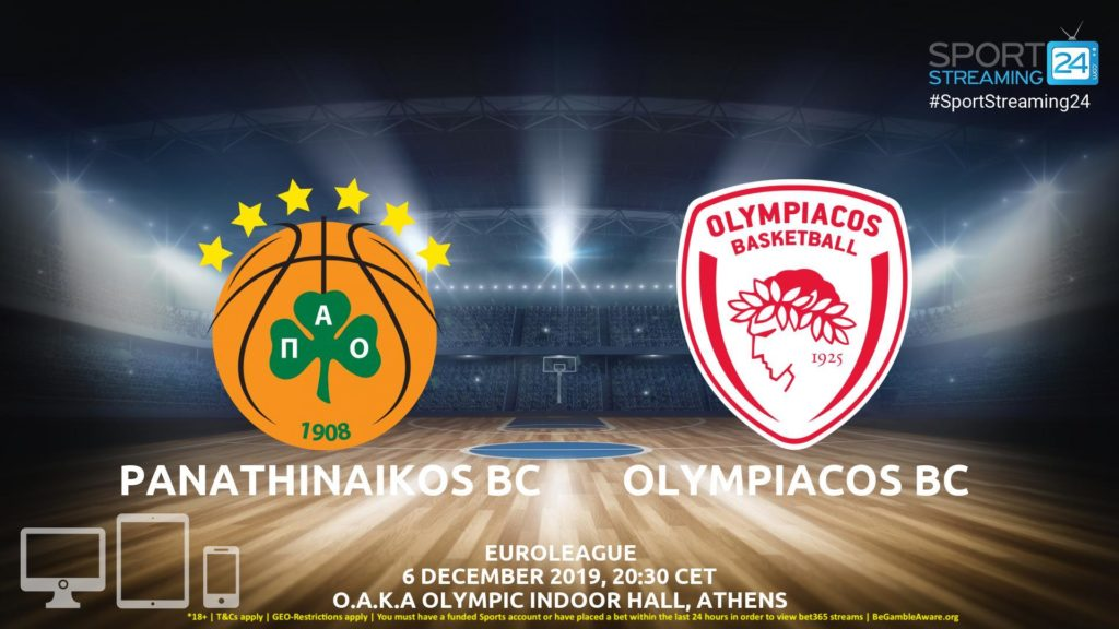 Thumbnail image for Panathinaikos v Olympiacos Live Stream | Euroleague