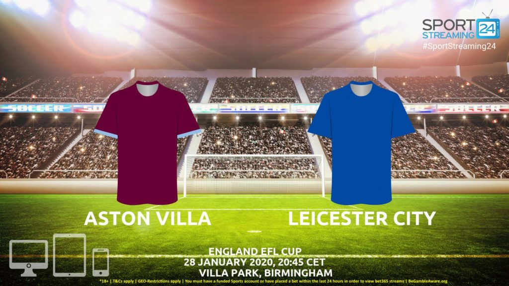 Thumbnail image for Aston Villa vs Leicester Live Stream* | EFL Cup England