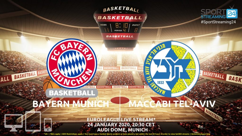 Thumbnail image for Bayern Munich v Maccabi Tel-Aviv Live Stream | Euroleague