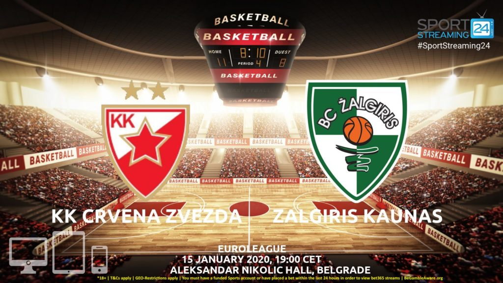 Thumbnail image for Crvena Zvezda vs Zalgiris Kaunas Live Stream | Euroleague