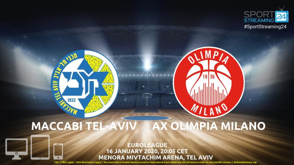Thumbnail image for Maccabi Tel-Aviv vs AX Olimpia Milano Live Stream | Euroleague