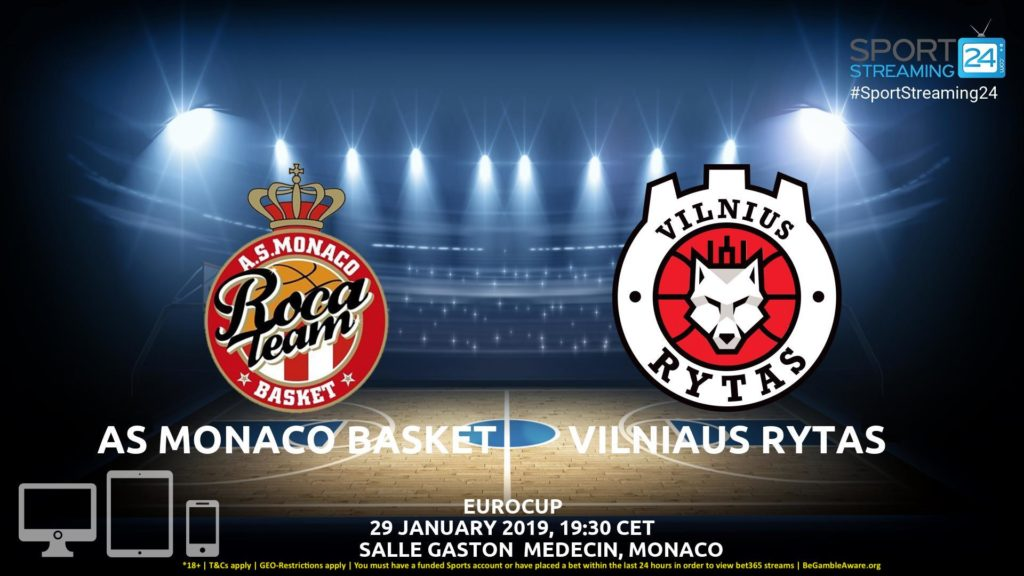 Thumbnail image for AS Monaco Basket vs Vilnius Rytas  Live Stream | Eurocup