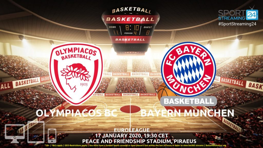 Thumbnail image for Olympiacos vs Bayern Munich Live Stream | Euroleague