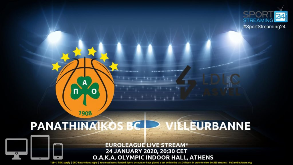 Thumbnail image for Panathinaikos v Villeurbanne Live Stream | Euroleague
