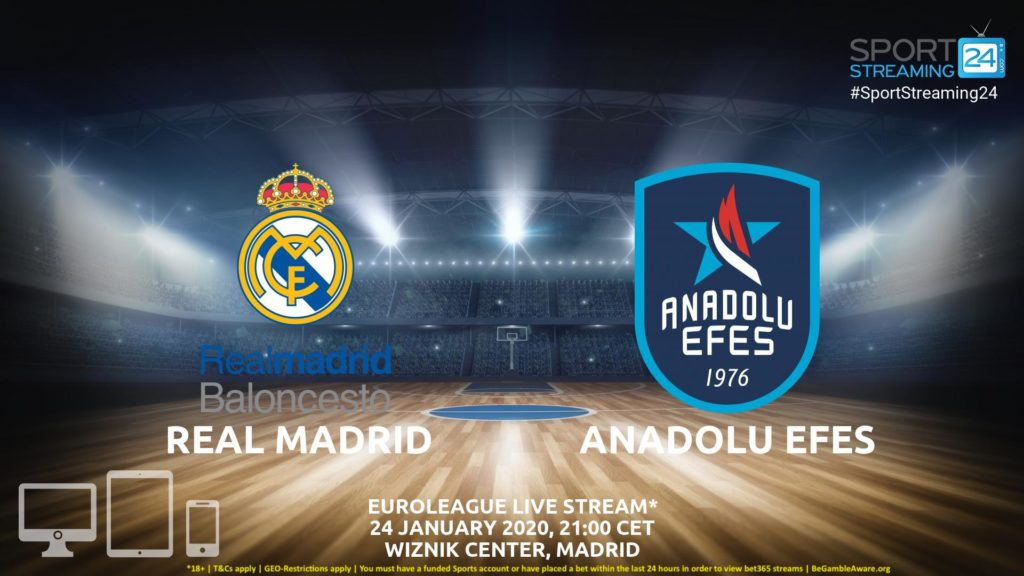 Thumbnail image for Real Madrid vs Anadolu Efes  Moscow Live Stream | Euroleague
