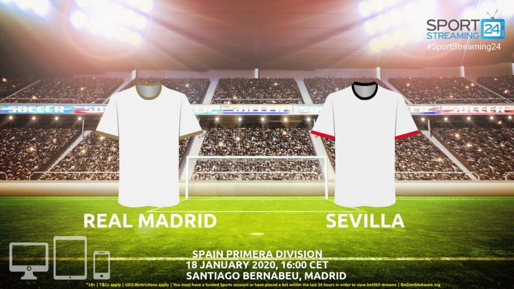 Thumbnail image for Real Madrid vs Sevilla Live Stream | Primeira Liga