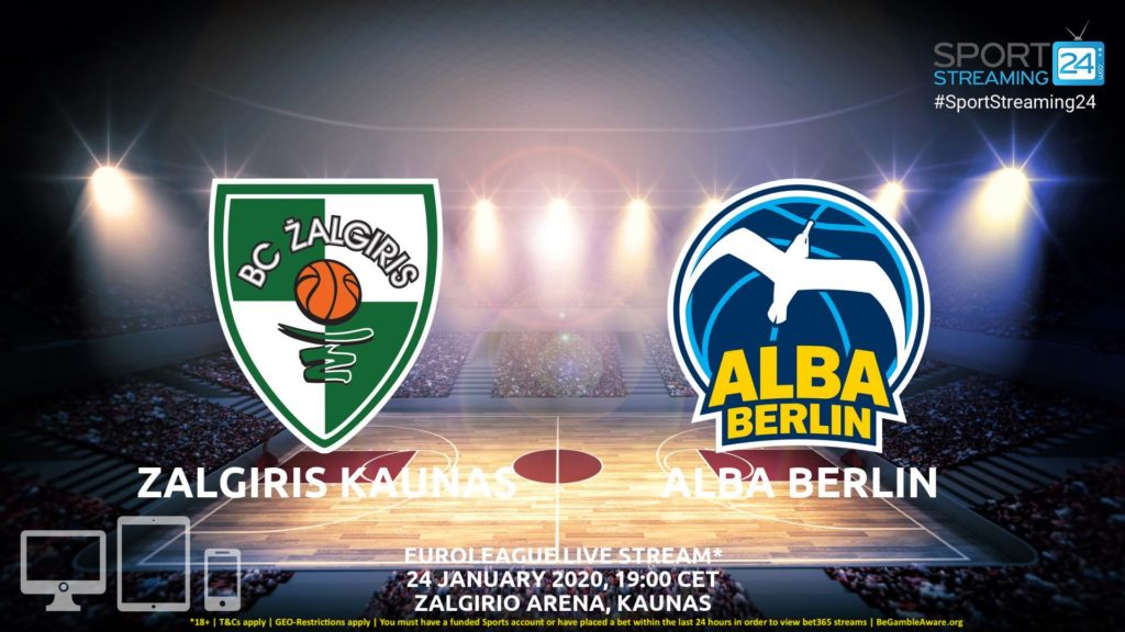 Thumbnail image for Zalgiris Kaunas vs Alba Berlin Moscow Live Stream | Euroleague