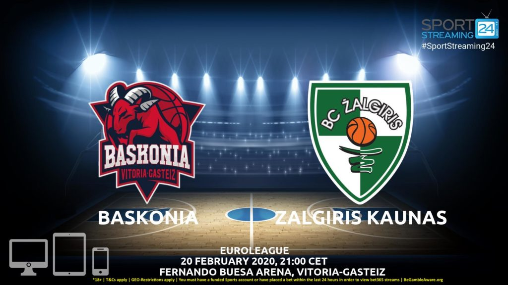 Thumbnail image for Baskonia vs Zalgiris Kaunas Live Stream | Euroleague