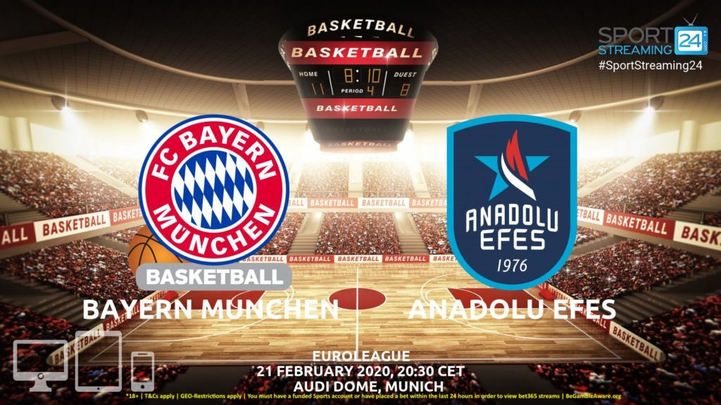 Thumbnail image for Bayern Munich v Anadolu Efes Live Stream | Euroleague