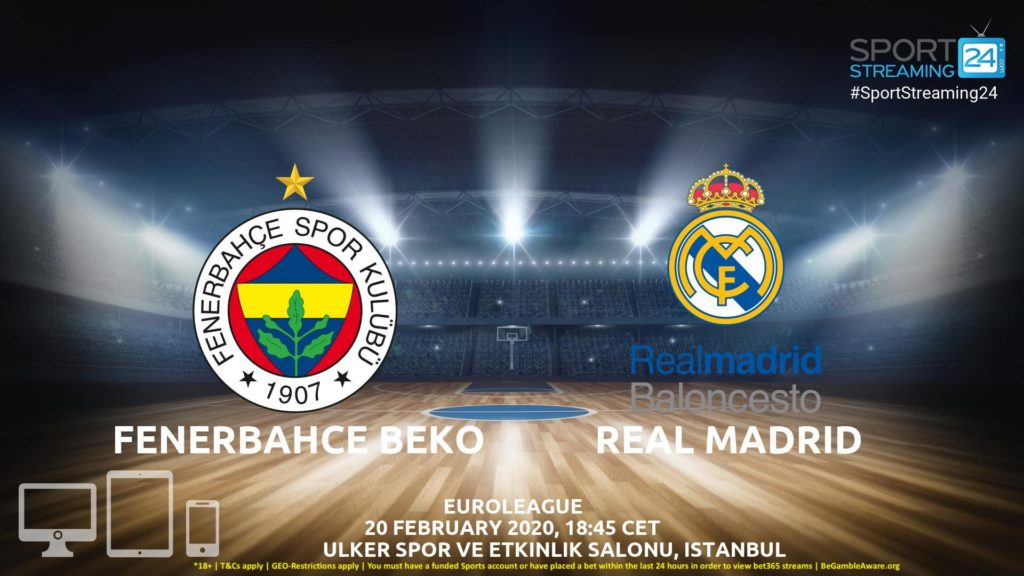 Thumbnail image for Fenerbahce vs Real Madrid Live Stream | Euroleague