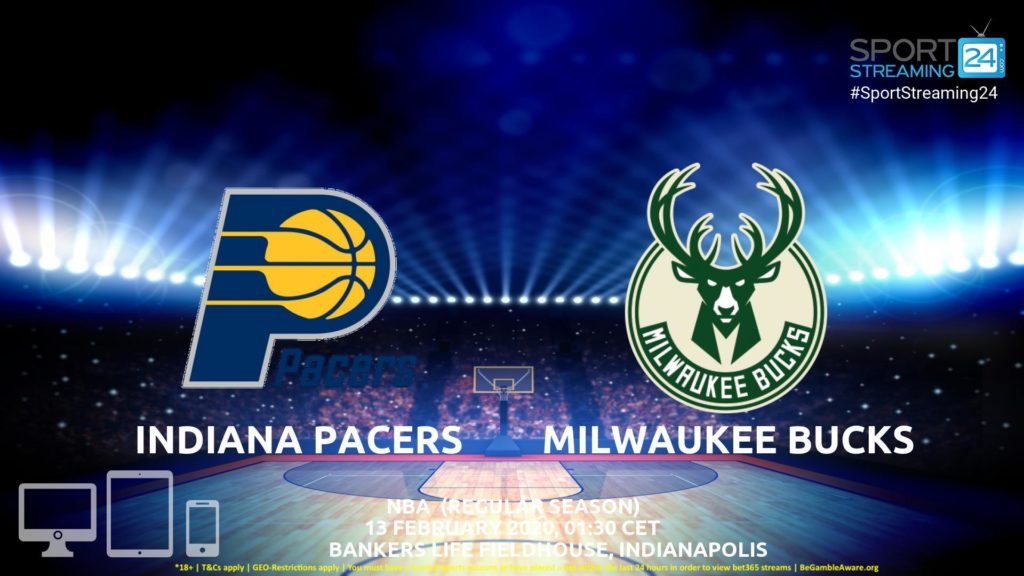 Thumbnail image for Indiana Pacers vs Milwaukee Bucks Live Stream | NBA