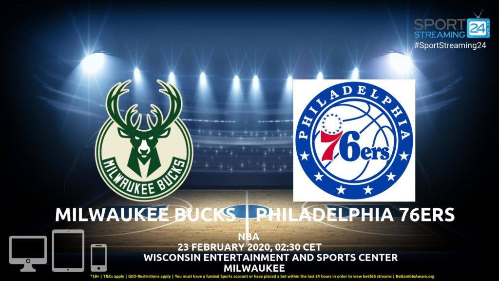 Thumbnail image for Milwaukee Bucks v Philadelphia 76ers Live Stream | NBA