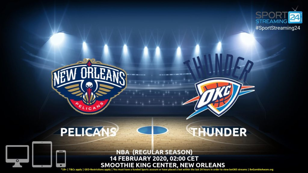 Thumbnail image for New Orleans Pelicans vs Oklahoma City Thunder Live Stream | NBA