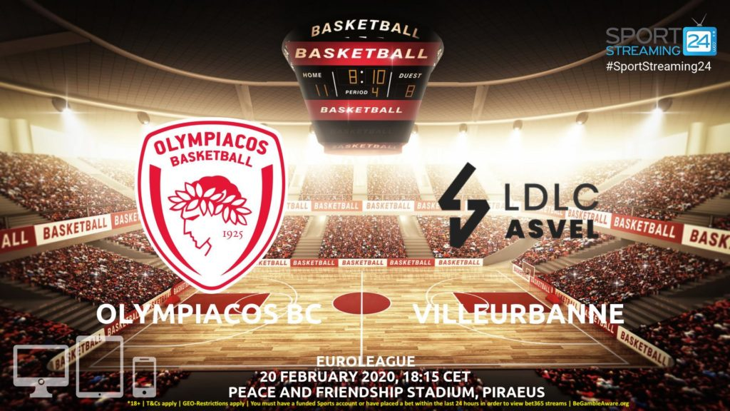 Thumbnail image for Olympiacos v Villeurbanne Live Stream | Euroleague